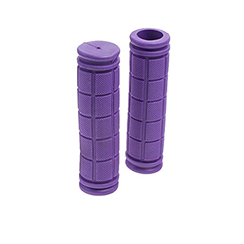 Orcbee  _BMX MTB Bike Grips Mountain Bicycle Bike Handle Handlebar Soft Rubber Bar End (Purple)