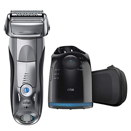Braun Electric Razor for Men, Series 7 790cc Electric Shaver with Precision Trimmer, Rechargeable, Wet & Dry Foil Shaver, Clean & Charge Station and Travel Case