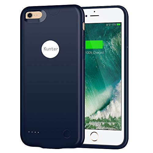 iPhone 8 Battery Case/iPhone 7 Battery Case, (2800mAh) Ultra Slim Portable Rechargeable Charger Case Extended Battery Charging Case for iPhone 8/iPhone 7 (4.7 inch)-Blue by Kunter