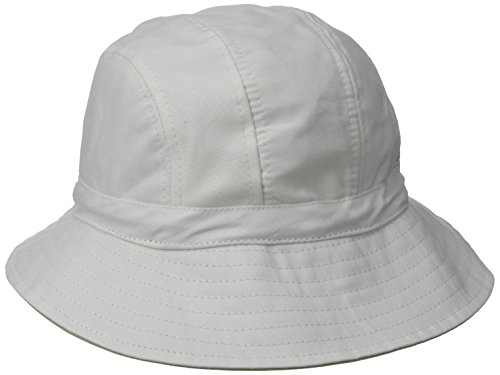 physician-endorsed-womens-b-zee-100-percent-cotton-two-tone-packable-hat-rated-upf-50-white-khaki-on
