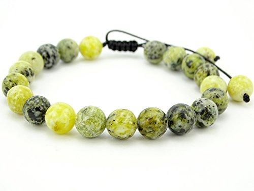 - jennysun2010 Handmade 8mm Adjustable Mixed Natural Yellow Turquoise Gemstone Round Beads Bracelet Healing Reiki Chakra 1 Piece 4.5