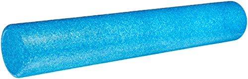 AmazonBasics High-Density Round Exercise Therapy Foam Roller - 36 Inches, Blue