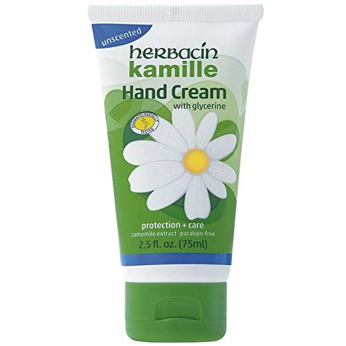 Herbacin Herbacin kamille unscented hand cream 2.5 fluid ounce, Green, 2.5 Fl Oz