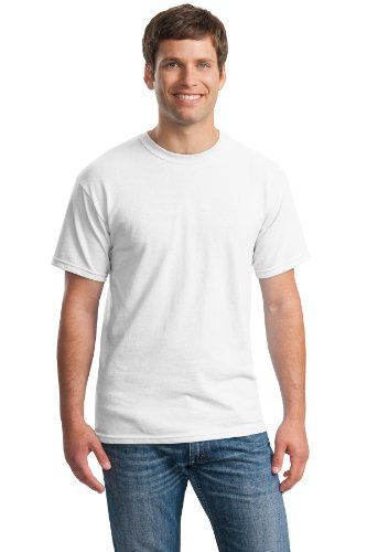 Gildan Men's Classic Heavy Cotton T-Shirt, White, XX-Large. (Pack of 5) by Gildan