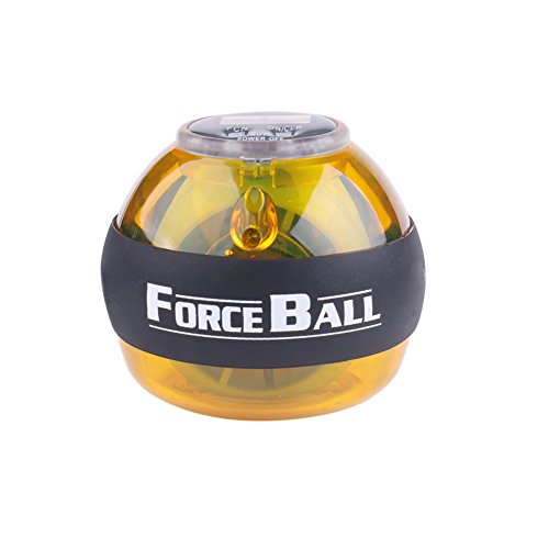 Fitness anytime anywhere,Gyroscope Powerball Hand Fore Arm and Wrist Strength Excercise Balls, Rotate Power Strengthener , Comes with LCD Counter and LED Light by JUNDONG