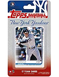New York Yankees 2019 Topps Factory Sealed 17 Card Limited Edition Team Set with Aaron Judge and Gary Sanchez Plus