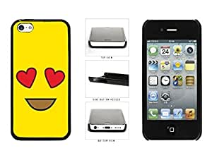 Bright combined Yellow Heart Eyes and Smiley Face Plastic Phone Case Back Cover Apple iphone 4s must daily