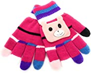 Shen Kids Winter Gloves Knitted Warm Gloves Wool Acrylic Mittens Winter Gloves for Toddler Girls and Boys 2 to