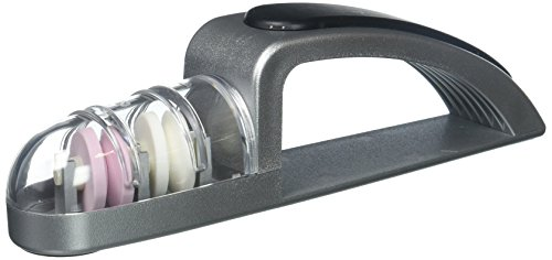 Global Knives 440/SB Knife-Sharpeners Minosharp Plus Black, Grey (Global Minosharp Ceramic)