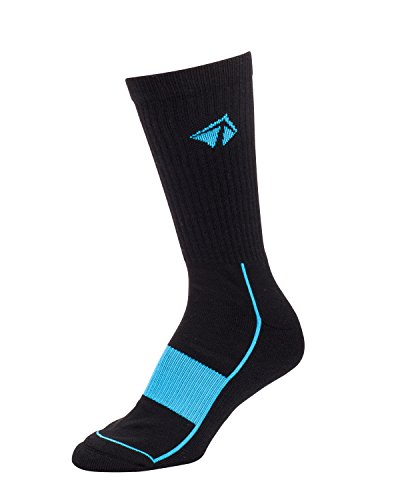 LIFT 23 Atacama Moisture Wicking Performance Socks, Comfort Compression Fit (X-Large, Black and Blue's) by LIFT 23