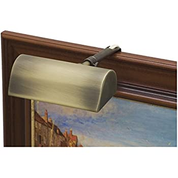 """T5-76 House of Troy Traditional 5/"""" Weathered Brass Picture Light"""