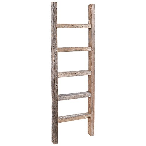 Amazon.com: Decorative Ladder – Reclaimed Old Wooden Ladder 4 Foot Rustic  Barn Wood: Home & Kitchen - Amazon.com: Decorative Ladder €� Reclaimed Old Wooden Ladder 4 Foot