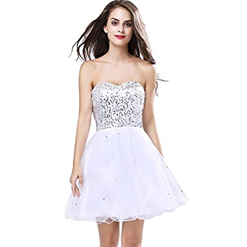 Short and Silver Prom Dresses: Amazon.com