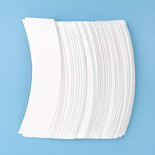 36 Pcs/Bag Double Sided Adhesive Tapes for Hair Extension Lace Front Support Toupee Wigs (white color) ()