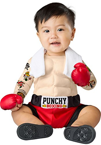 Boxing Halloween Costumes For Toddlers (Fun World Boys' Baby Bruiser, Multi,)