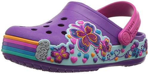 Crocs Crocband Fun Lab Light-Up Clog, Purple, 9 M US Toddler