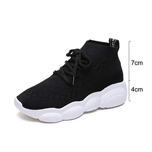 Zapatos Ligero Deportivas Casual Y Running Mujer De Negro Para Tefamore Gimnasia Sneakers Zapatillas YPqdAEYw
