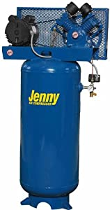 Jenny G3A-30V Single Stage Vertical Corded Electric Powered Stationary Tank Mounted Air Compressor with G Pump, 30 Gallon Tank, 1 Phase, 3 HP, 230V by Jenny Products, Inc
