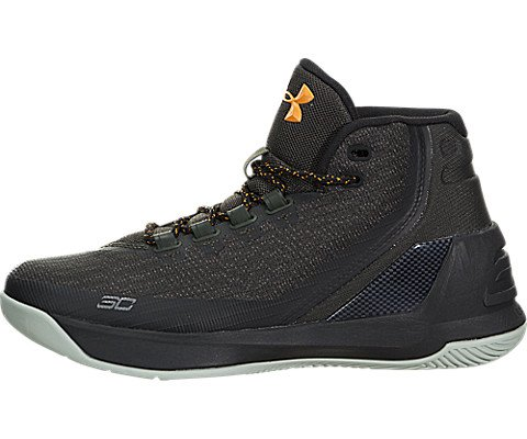 e7b4b07a456e Galleon - Under Armour Boys Grade School UA Curry 3 Basketball Shoes 5.5 M  US Artillery Green
