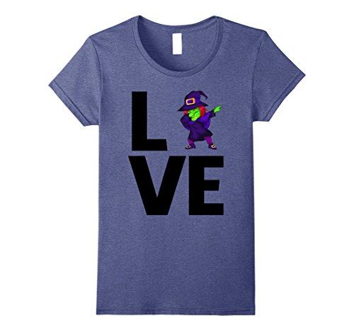 Womens LOVE DABBING WITCH Halloween costume idea for moms 2017 tee Small Heather (2017 Costumes Ideas)
