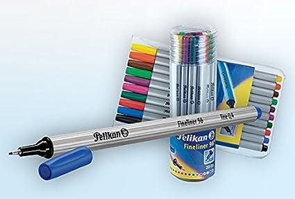 Pelikan 940601/Fineliner 96/Pens Set of 3/in Blister Packaging Black