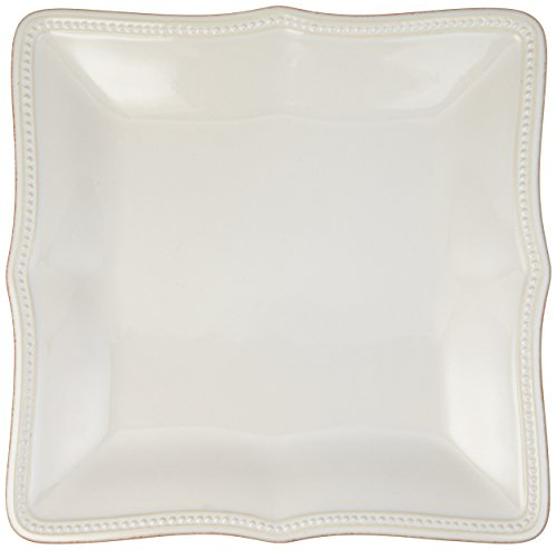 (Lenox French Perle Bead Square Dinner Plate, White)
