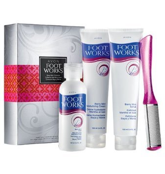 Avon Foot Works Berry Mint Collection