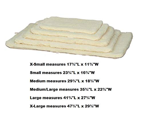 Dog Beds Double Sided Sherpa Plush Warm Furniture Cover Crate Mat Choose Size (Small - 23¾