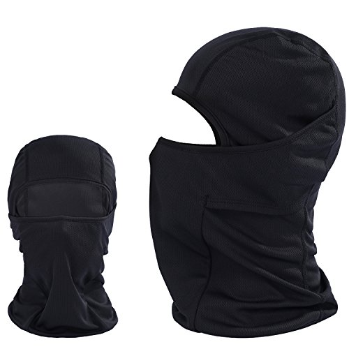 JIUSY Black Balaclava - Breathable Outdoor Windproof Helmet Liner Full Face Mask for Tactical Hunting Hiking Motorcycle Cycling BE01