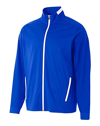 (Royal Blue Adult Small Sports Full Zip Moisture Wicking Cool & Comfortable Warm-up Jacket)