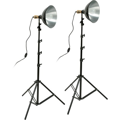 (Impact Tungsten Two-Floodlight Kit with 8' Stands)
