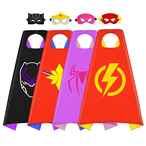 Tisy Superhero Capes Dress up Costume for