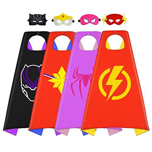 Tisy Superhero Capes Dress up Costume for Kids,
