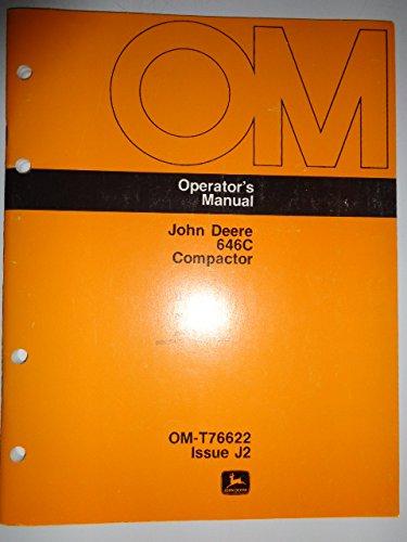 John Deere 646C Compactor Operators Owners Manual OMT76622J2