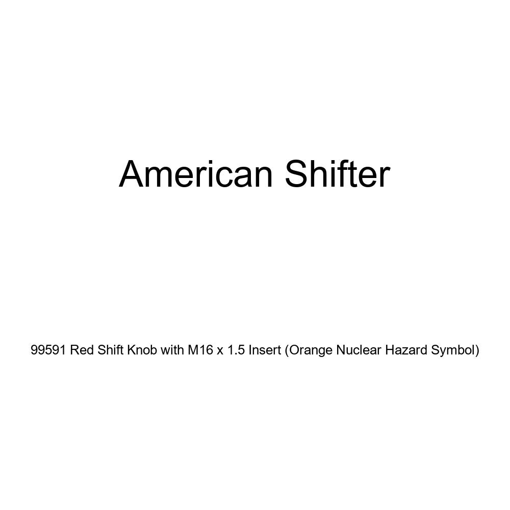 American Shifter 99591 Red Shift Knob with M16 x 1.5 Insert Orange Nuclear Hazard Symbol