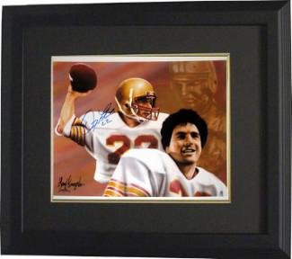 1c5baa5c7 Image Unavailable. Image not available for. Color  Doug Flutie Signed  Picture - 11X14 Dual Sig Heisman Custom Framed ...