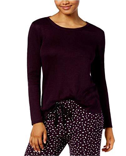 Alfani Womens Scoop-Neck Pajama Top, Dark Fig (Small)