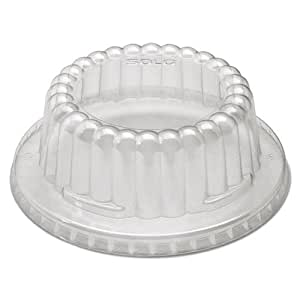 Flat-Top Dome PET Plastic Lids f/12 oz Containers, Clear, 1000/Carton, Sold as 1 Carton