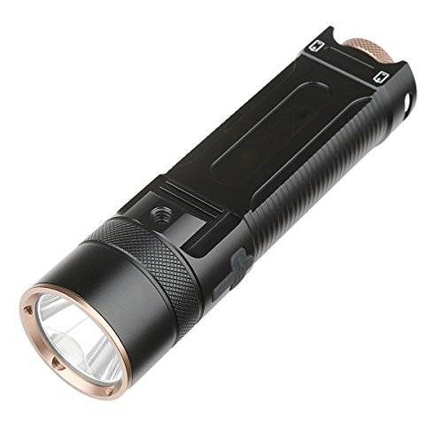 Leyic Powerful Rechargeable Flashlight / Bike Light - Max 1200lm - Up to 24 Hours of Continuous Using Time mother's day (Pocket Laser Light Show)