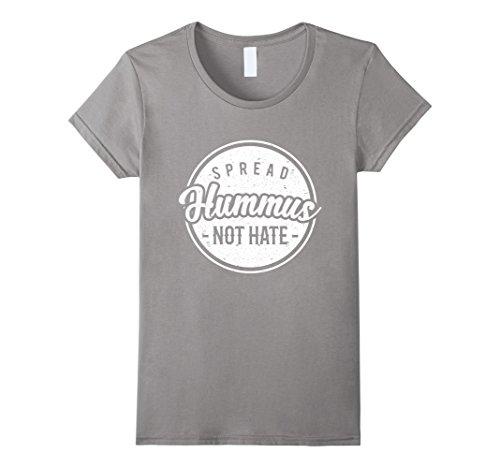 Womens Hummus Cool T-shirt Tee Food Vegan Christmas Gift Tahini Small Slate