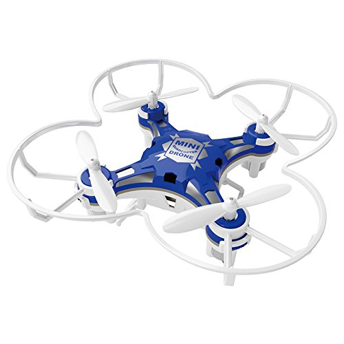 [YOOYOO 2.4G 4CH 6-Axis Gyro RTF Remote Control Pocket Quadcopter Aircraft Toy (Blue)] (Real Fx Masks)
