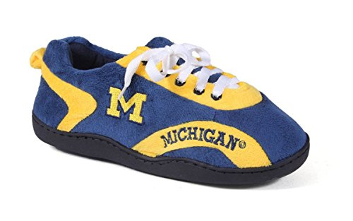 Michigan Wolverines Ladies Watch - MIC05-1 - Michigan Wolverines - Small - Happy Feet Mens and Womens All Around Slippers