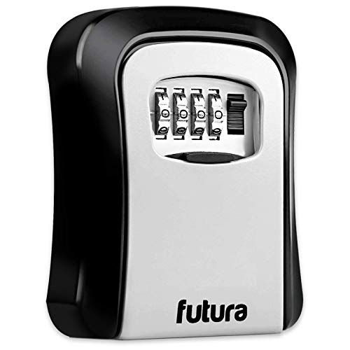 Futura Key Safe Wall Mounted Lock Box – Spare Key Storage – Suitable for Outdoor Use – 4 Digit Combination Protected