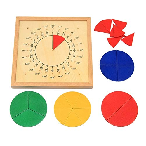 Baby Toys Circular Mathematics Fraction Division Teaching Aids Board Wooden Toys Child Educational Gift Math Toy