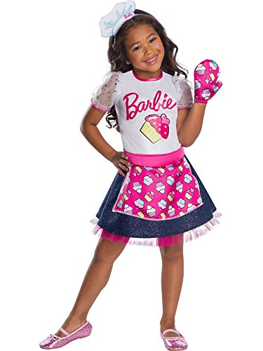 Rubie's Barbie Career Child's Costume, Baker Chef, Baker Chef, X-Small ()