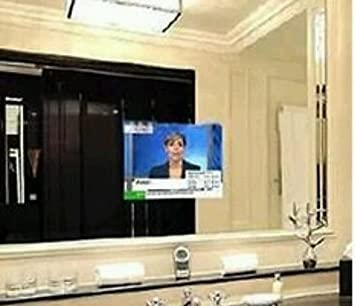 Mirror Glass For Tv Magic Hidden Advertising Screen, Flat Screen Bathroom  Sight