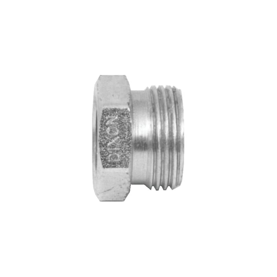 Dixon GDL13 Plated Steel Air Fitting, Heavy Duty Ground Joint Air Hammer Coupling Female Spud with Copper Seat, 1 NPT, 1 47/64 OD x 8 TPI, Box of 25