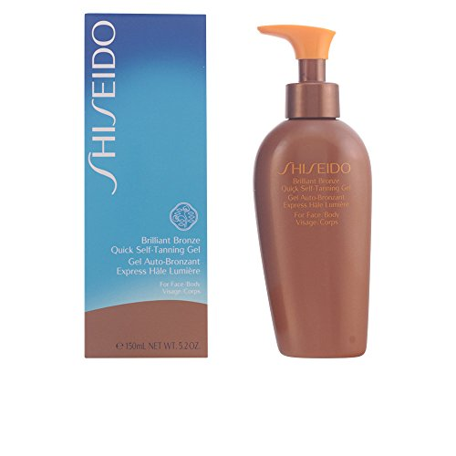 Shiseido Brilliant Bronze Quick Self Tanning Gel (for Face and Body) Gel for Unisex, 5.2 Ounce Brilliant Bronze Self Tanning