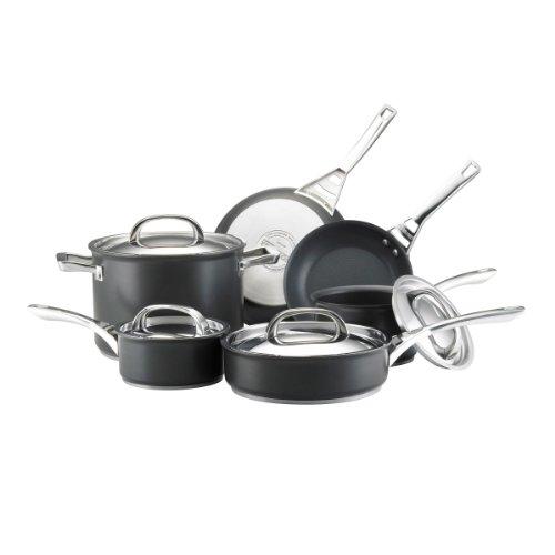 Circulon 82376 Contempo Cookware Set, 10 Piece, Black