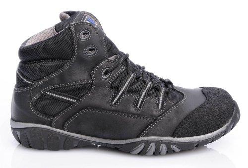 2W4 ARIZONA Stiefel EN345 S3 grau/schwarz Sicherheitsschuhe Sport Schwarz